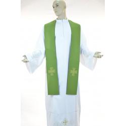 Stola sacerdotale bicolore 100% poliestere Verde-Viola