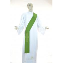 Stola diaconale bicolore ricamata 100% poliestere Verde-Viola