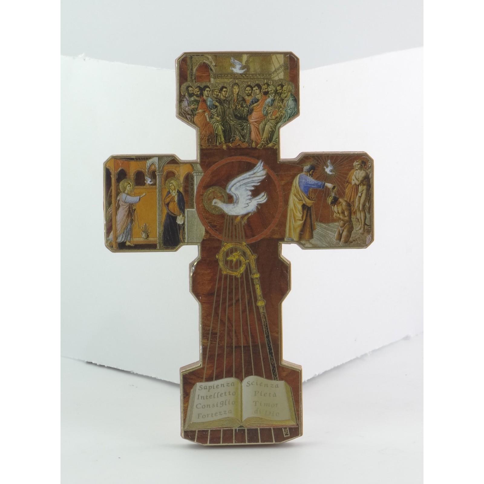 Croce da appendere per prima comunione in legno for Nomi in legno da appendere