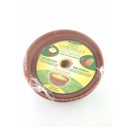 Candela Alla Citronella In Vaso Terracotta Diametro 18cm