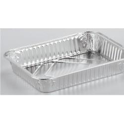 Vaschetta Alluminio 4 Porzioni con Coperchio Pz.3