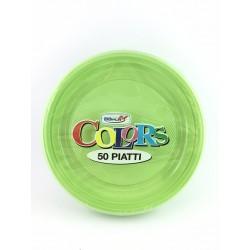 Piatti Frutta Dopla Pz.50 Verde Acido