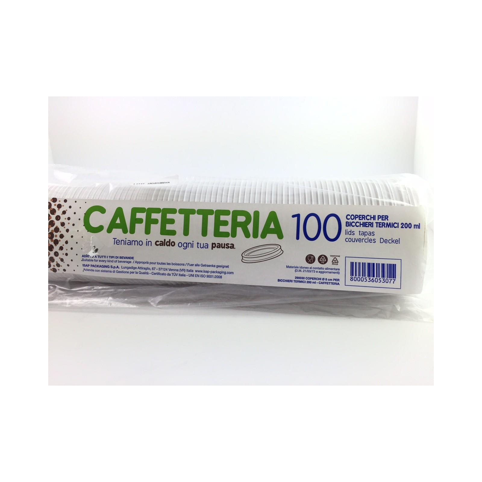 100 coperchi per bicchieri termici 200cc for Bicchieri termici