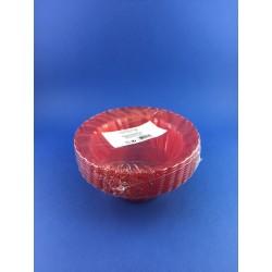 Coppetta Dessert Rilavabile Rossa Diametro 12cm Pz.10