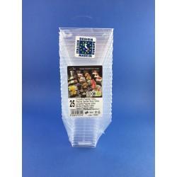 Coppetta Quadrata 120cc In Plastica Trasparente 6,5x6,5 Pz.25
