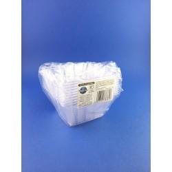 Coppetta In Plastica Rilavabile Trasparente 10x10 Pz.10