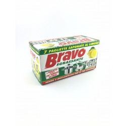 Paglietta Saponata Al Limone Sgrassante Bravo Pz.7