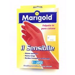 Guanti Felpati Marigold Il Sensibile In Lattice Naturale Taglia L.8,5