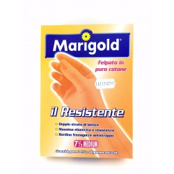 Guanti Felpati Marigold Il Resistente In Lattice Naturale Taglia Media 7,5