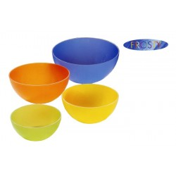 Insalatiera Frosty Dm.20cm  In Plastica Colorata Dem