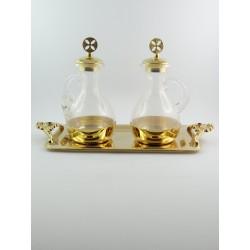 Ampolline da celebrazione acqua e vino dorate