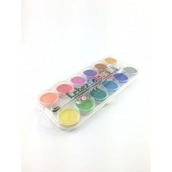 Acquerelli 12 Colori Perlati + Pennello Lebez