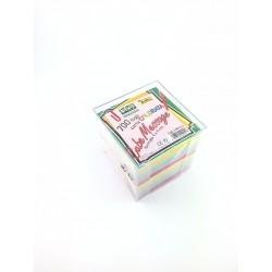Blocco Memo 700 Fogli Colorati 9x9 In Cubo Di Plexiglass
