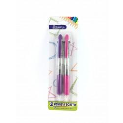Penna Biro 3 Colori a Scatto Pz.2 Golden Hill