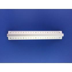 Righello Doppio Decimetro Cm.20 In Alluminio Arda