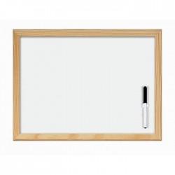 Lavagna In Legno Sfondo Bianco 40x60 Lebez Completa di Accessori