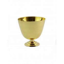 Calicetto in metallo dorato da viaggio