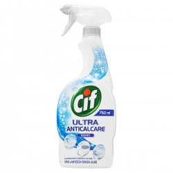 Cif Power and Shine, Ultra Anticalcare per il Bagno, Pro Formula Diversey, Flac. 750 ml