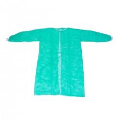 Camice con Polsino Usa e Getta Colore VERDE Confezione da 10 PZ