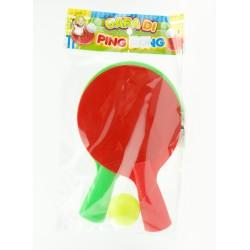 Gioco Gara di Ping Pong Confezione con due Racchette e una Pallina