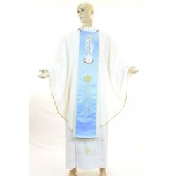 Casula 100% poliestere con ricamo mariano fronte e retro