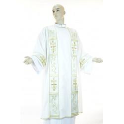 Dalmatica in tessuto fresco lana con ricamo fronte e retro