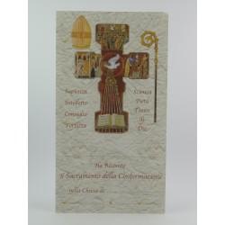 Ricordo Con Croce in Legno e Pergamena
