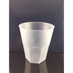 Bicchiere Plastica 270cc Pz.6 Trasparente Party Style Gold Plast