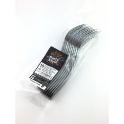 Forchette In Plastica Effetto Metallo Usa e Getta 185mm Pz.10