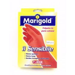 Guanti Felpati Marigold Il Sensibile In Lattice Naturale Taglia Media 7,5