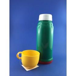 Thermos 0,15 Lt In Plastica Interno Vetro Con Bicchiere
