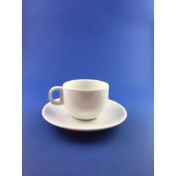 Tazzina Caffe' In Porcellana Con Piatto Pz.6