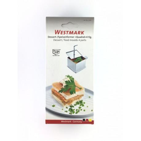 Kit Porzionatore Quadrato In Acciaio Alimentare 4 Pezzi Westmark