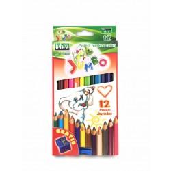 Pastelli Jumbo Colorati Pz.12 Lebez
