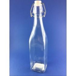 Bottiglia per Alimenti in Vetro con Tappo con Chiusura Ermetica da 0,50 cl, DUE ESSE DISTRIBUZIONI