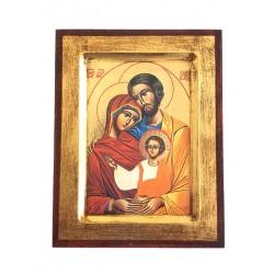 Icona Sacra Famiglia, Stampata, Scavata