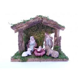 Capanna Natività per Presepe, Festar, 5 Pezzi