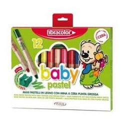 Pastelli Maxi Colorati Pz.6 Fibracolor Per Bambini