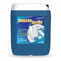 Matik Brill, Brillantante per Stoviglie, Pro Formula Diversey, Tanica 10 LT