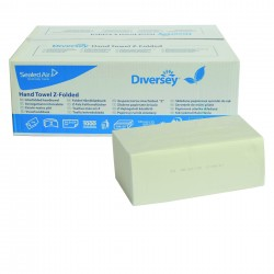 Salviette Intercalate a Z per Mani, Toilet Folded Diversey, Cart. da 3.750 Pz