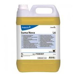 Suma Nova L6, Detergente Liquido per Lavaggio Meccanico Stoviglie, Pro Formula Diversey, Tanica 10 LT
