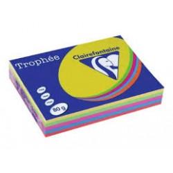 Carta A3 Trophee 80 gr Colori Intensi Assortiti, Risma da 500 Fogli, 100 per Colore