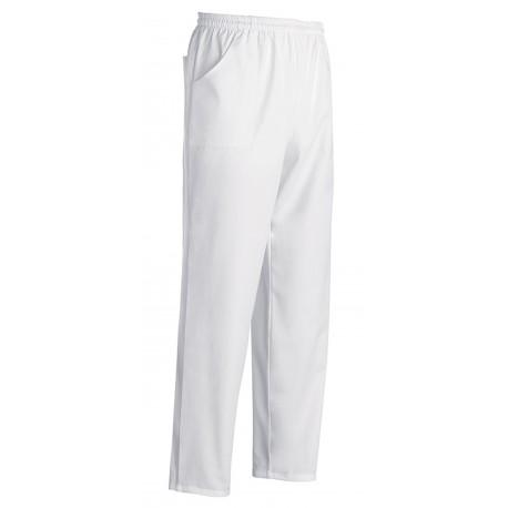 Pantaloni Unisex Bianchi Professionali 100% Cotone Taglie Assortite