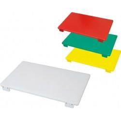 Tagliere in Polietilene 50x40x2 cm con Fermo Professionale Colori Assortiti