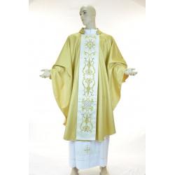 Casula 95% lana 5% lurex con stolone ricamato fronte e retro staccabile